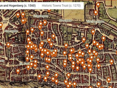 The majority of homicides catalogued on the map occurred in public places, including crowded streets and markets