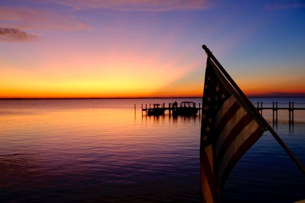Flag at Sunset thumbnail
