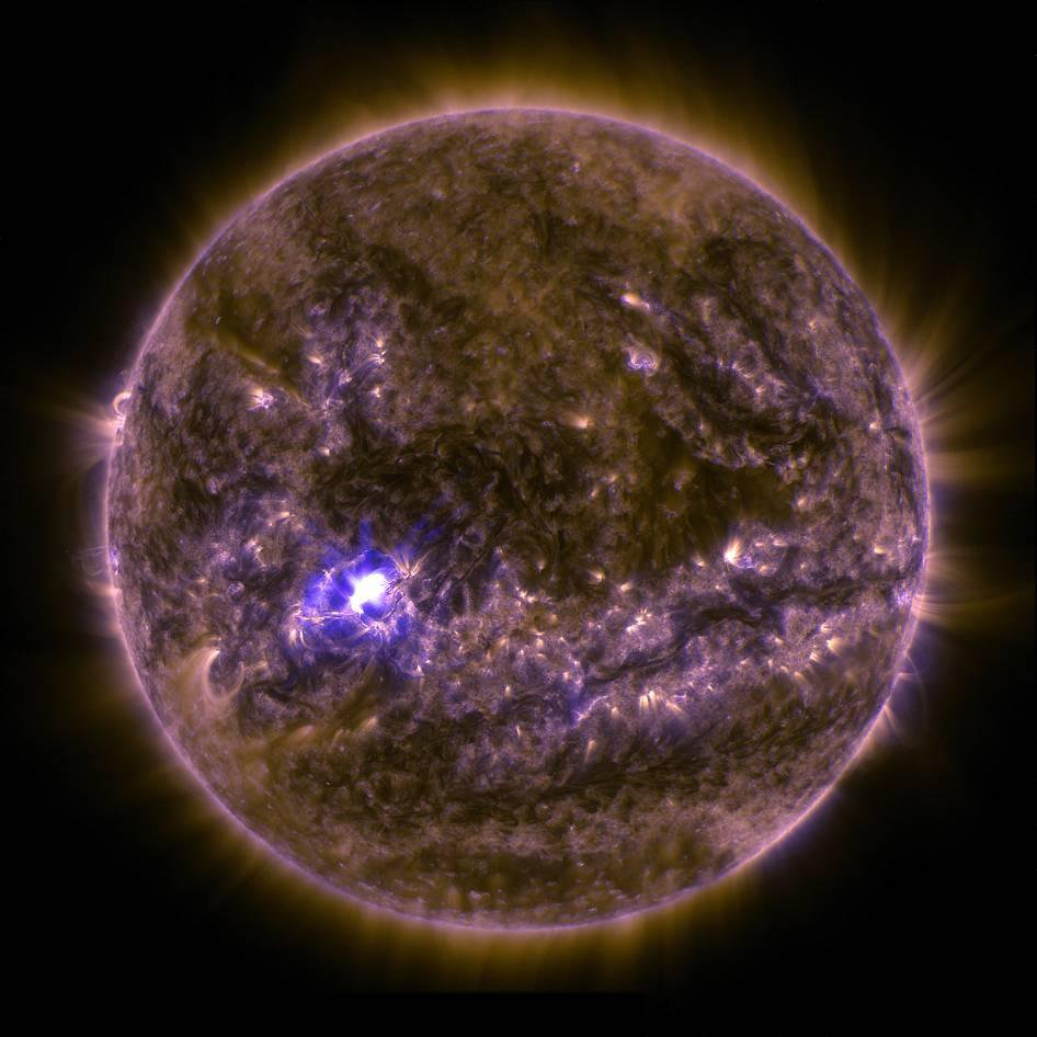 A Solar Flare and a Volcano Blizzard Are Among These Stellar Shots