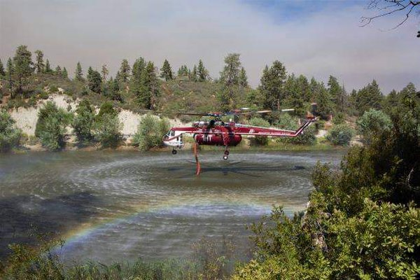 Firefighting Helicopter Getting Water Out of Jackson Lake thumbnail