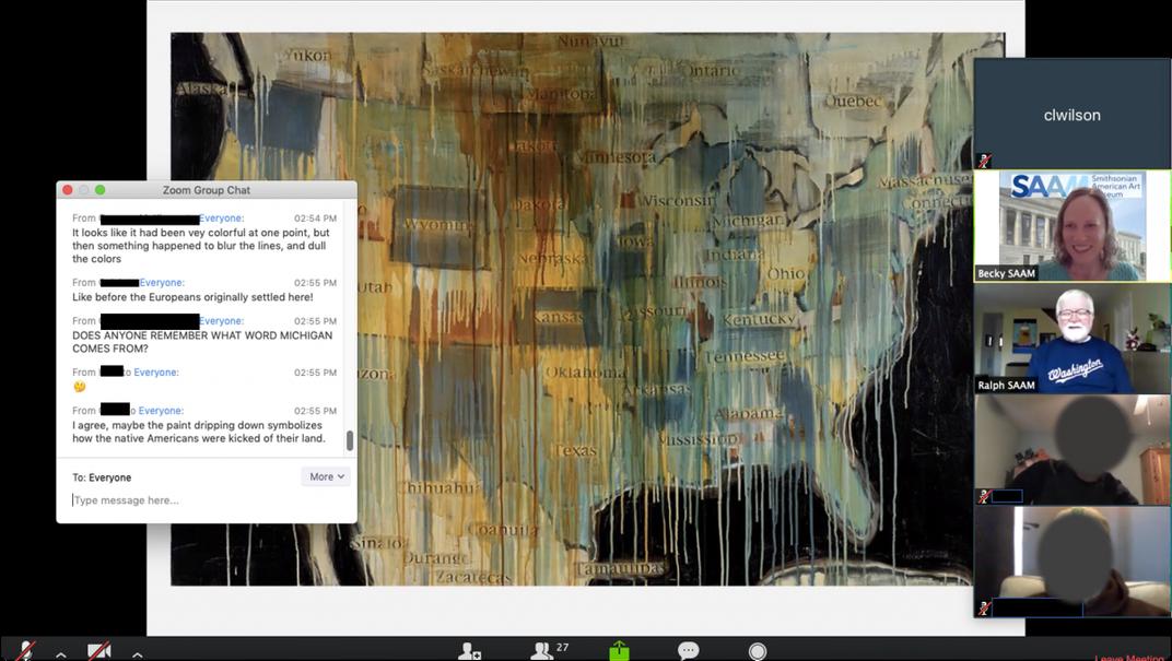 Screenshot of virtual teachers workshop