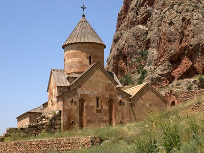 The spectacular 13th-century Noravank monastery is situated among mountain cliffs in southern Armenia.