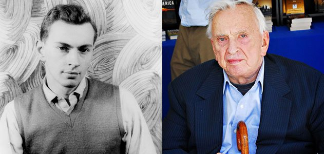 Gore Vidal: Left in 1948 (Image: Library of Congress) Right, in 2008