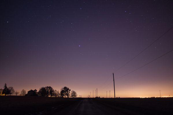 Stars rise as the sun sets. thumbnail