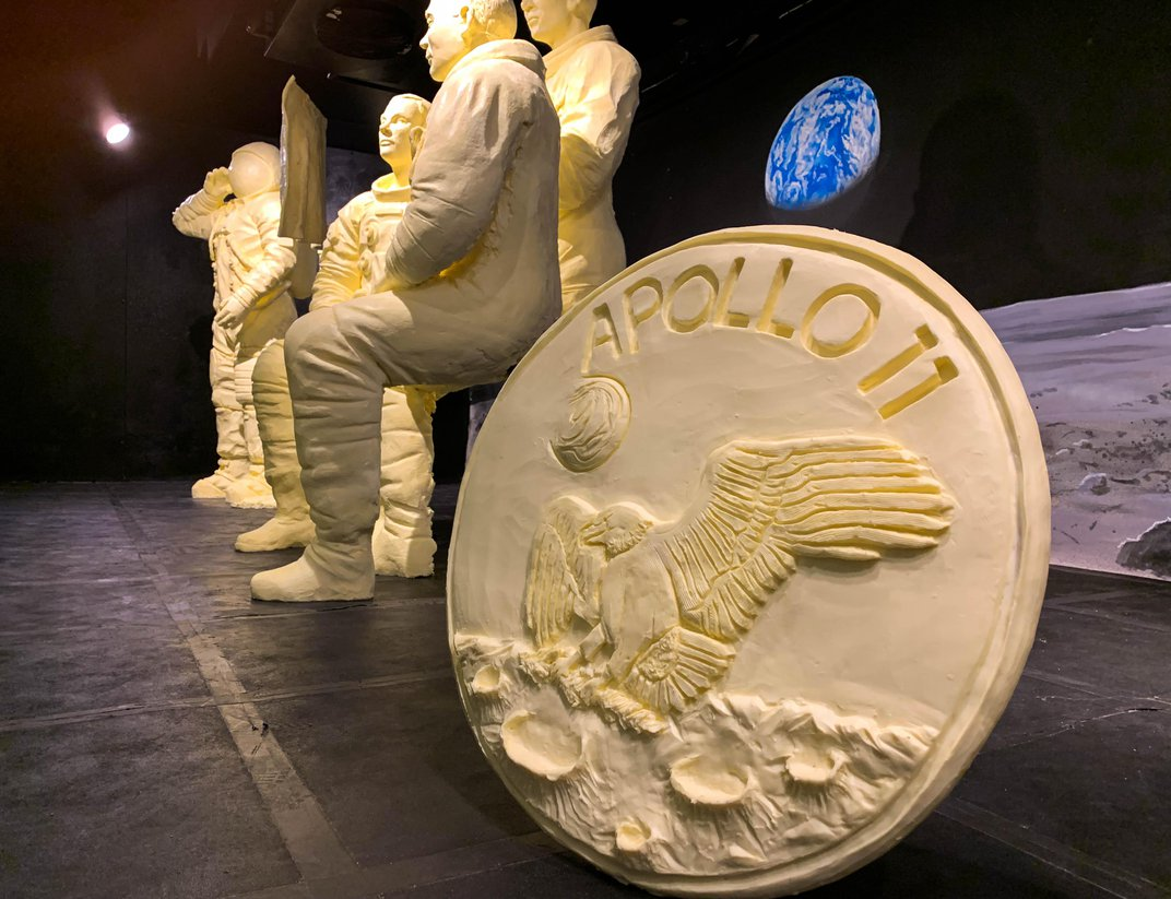Apollo 11 Mission Memorialized With 2,200 Pounds of Butter