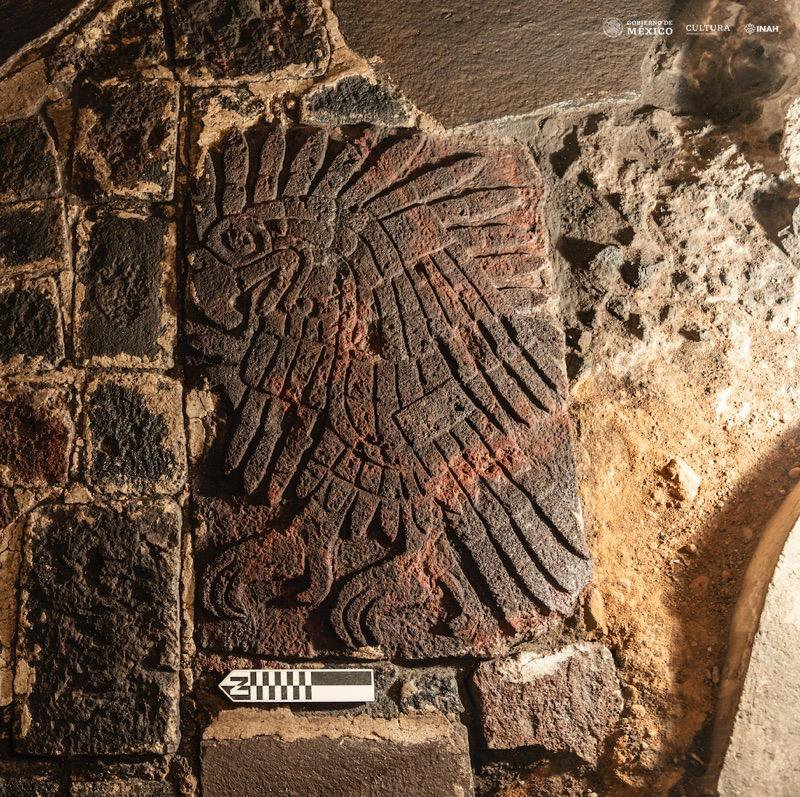 Archaeologists Unearth 600-Year-Old Golden Eagle Sculpture at Aztec Temple