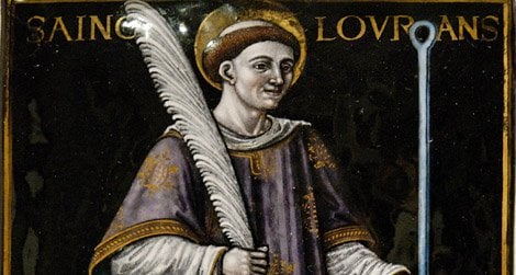 The patron saint of cooks, St. Lawrence