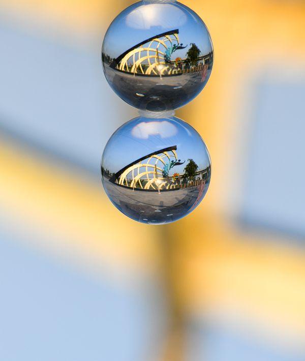 Sundial through double cryastal balls thumbnail