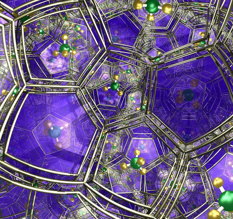 An artist's rendering of methane