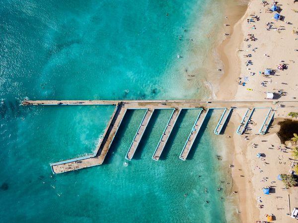 Pier and blue water at Crash Boat  thumbnail