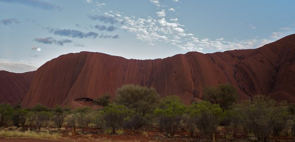 Uluru (Ayers Rock) at dusk thumbnail