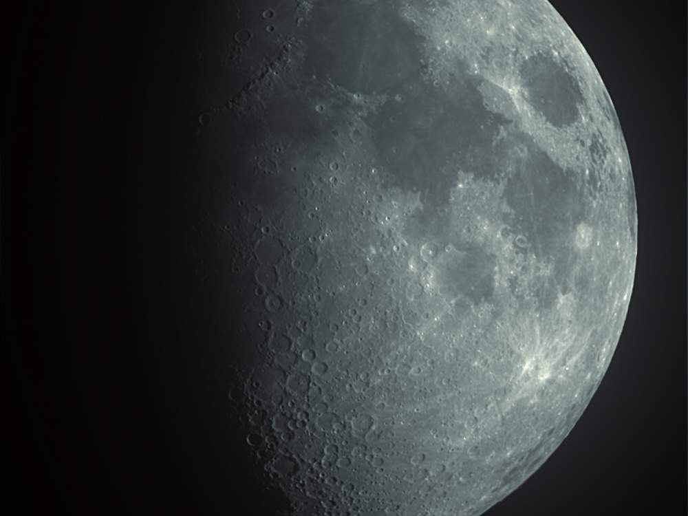 The waxing gibbous Moon as we viewed it on December 3, 2011.