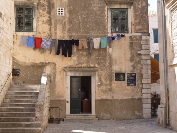 Airing clothes in Old Town Dubrovnik. thumbnail