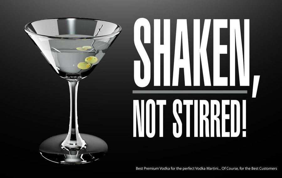 Vodka martini ad