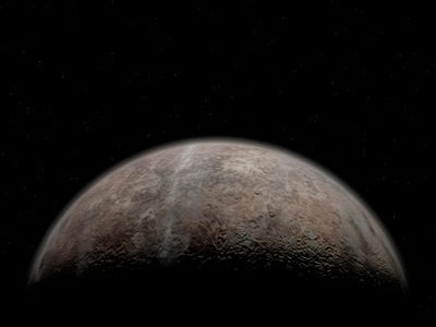 An artist's rendition of Pluto's surface.
