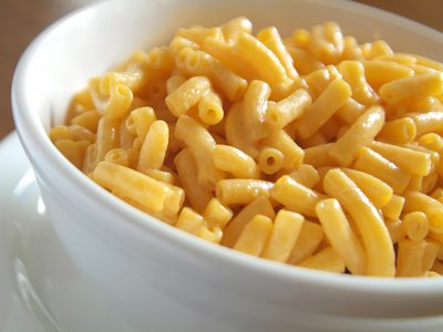 Boxed Day-Glo orange mac and cheese like this is an invention of the past century.