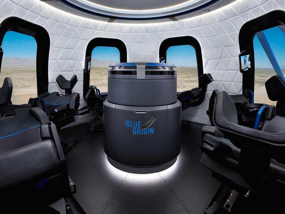 Blue Origin Spaceship Interior