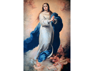 """The """"restored"""" painting may be a copy of this 17th-century work by Bartolomé Esteban Murillo."""