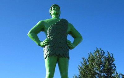 The Jolly Green Giant statue in Blue Earth, Minnesota