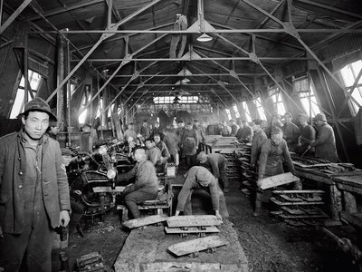 Chinese laborers comprised the largest non-European workforce during World War I, and were tasked with everything from digging trenches to manning factories.