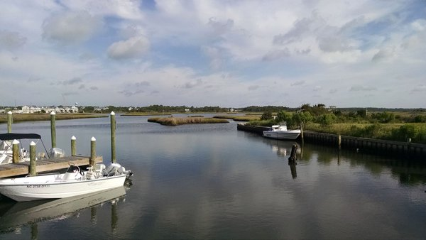 the Intercoastal Waterway, west side of Topsail Island thumbnail