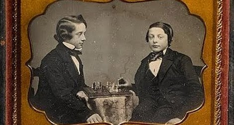 Paul Morphy (left) and a friend
