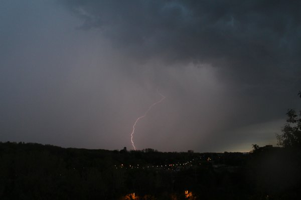 Lightning Strike over Ann Arbor thumbnail