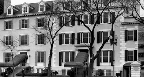 Take a tour of the official state guest house for the President of the United States, shown here in 1951.