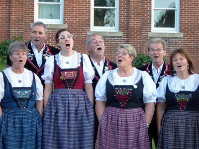 Swiss yodeling choir Jodlerclub Echo during a competition.