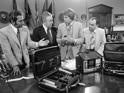 The House Intelligence Committee looked into illegal wiretapping in 1975 as part of its investigation of risks of U.S. intelligence operations.
