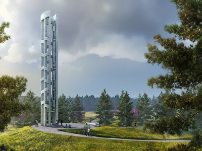 Rendering of the Tower of Voices