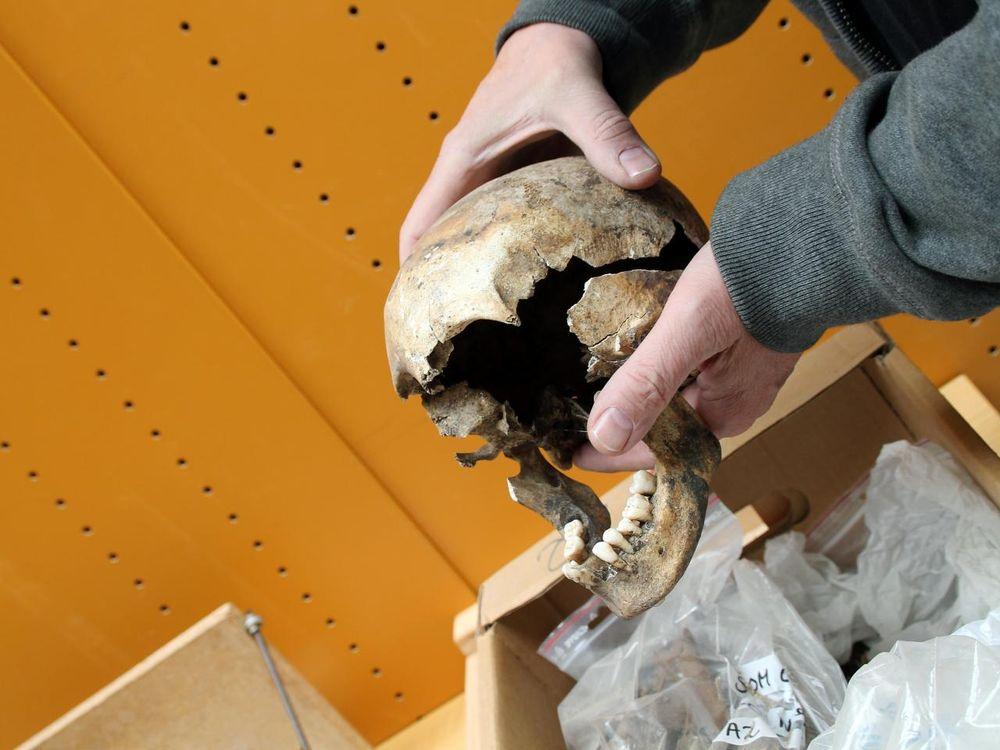 lead skull