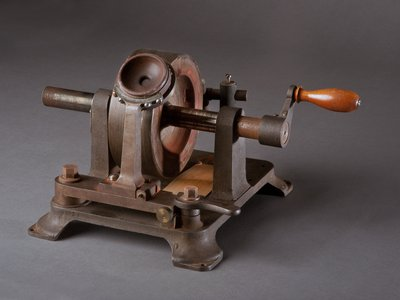 """Graphophone, recorded in October 1881. """"There are more things in heaven and earth, Horatio, than are dreamt of in our philosophy. I am a graphophone and my mother was a phonograph."""" Voice of Alexander Graham Bell's father."""