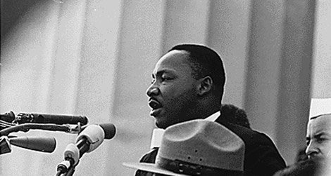 Martin Luther King, Jr. delivering his famous speech