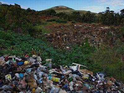 A trash dump outside of the capitol of Easter Island, pictured in 2011