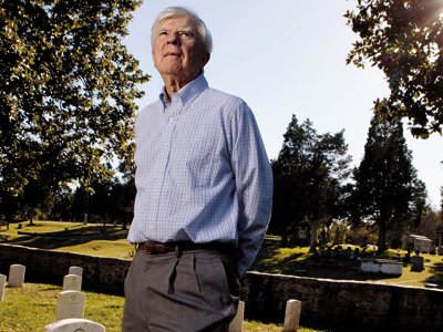 """The """"cemeteries were park and playground,"""" recalls Ernest B. Furgurson, in the National Cemetery."""