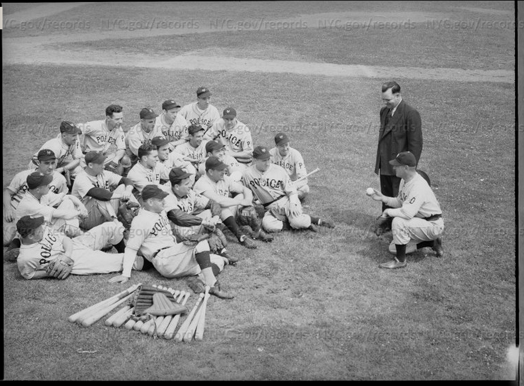 The Police Department's baseball team, 1941.