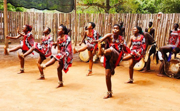 Swaziland - Swazi Tribal Women Doing the Sibhaca Dance thumbnail