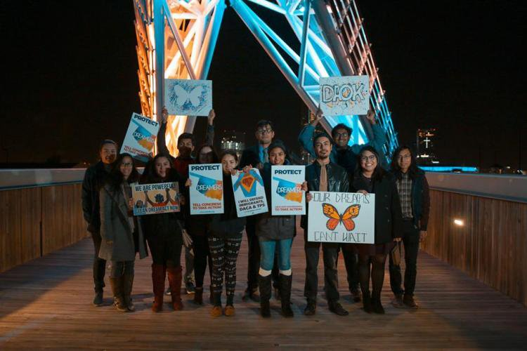 Dream Action Oklahoma (DAOK) vigil at Scissortail Bridge in 2018. (DAOK)