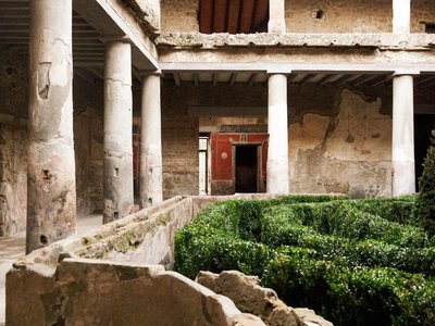 Pompeii's House of Lovers, first uncovered in 1933, was severely damaged in a 1980 earthquake.