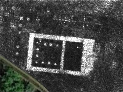 Ground-penetrating radar map of the newly discovered temple in Falerii Novi, Italy