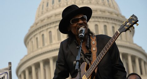 Chuck Brown performs at the DC Vote Rally June 9, 2011