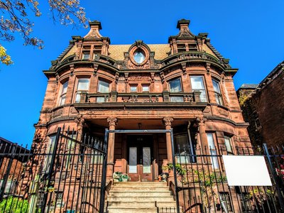 """A front view of 726 W. Garfield Blvd., the Englewood mansion where Catherine """"Cate"""" O'Leary lived for part of her later life"""