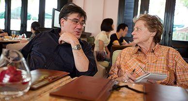 Mimi Sheraton with Alan Gilbert