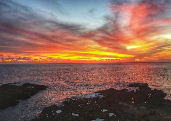 Sunset at Barra Lighthouse thumbnail