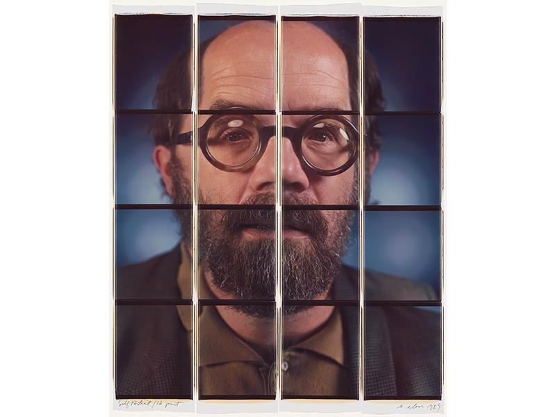 Chuck Close self-portrait
