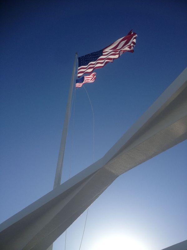 The flag of the U.S.S. Arizona thumbnail
