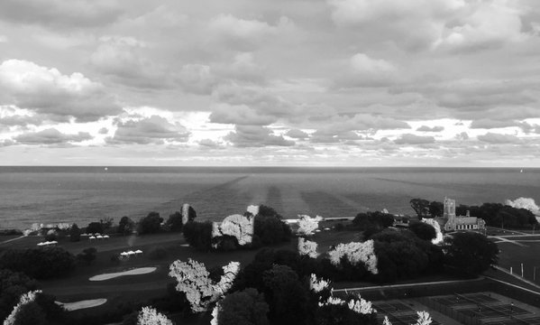 Shadows and Clouds Over Lake Michigan on 9-11-15 thumbnail