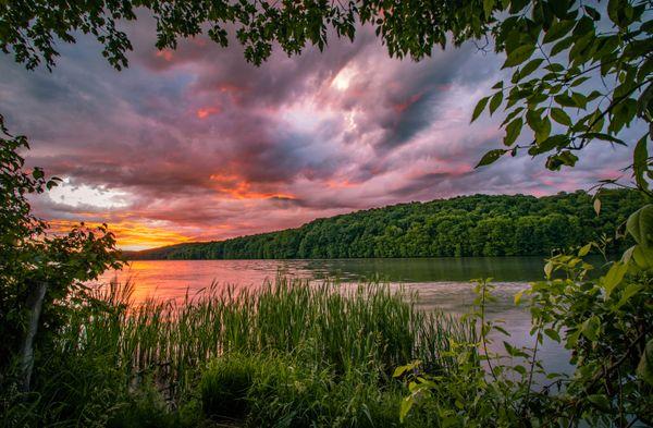 Perfectly framed sunrise thumbnail