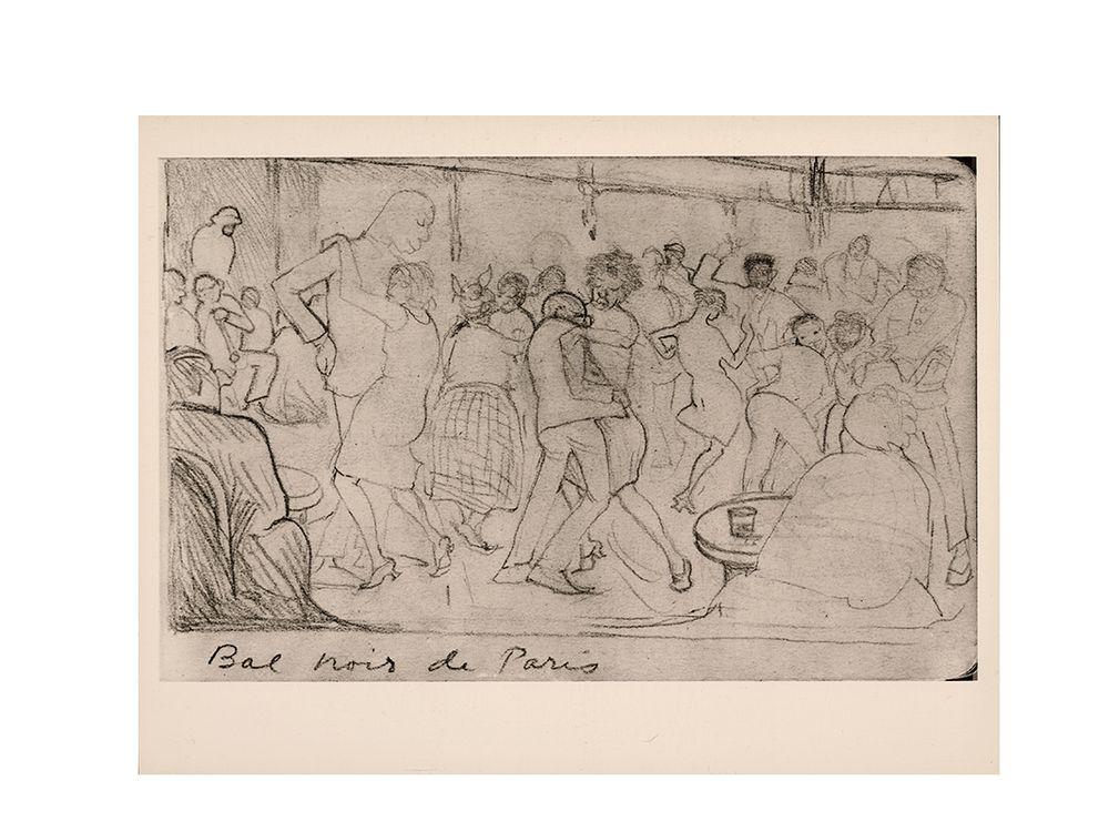 Bal Noir de Paris, between 1925 and 1970. Palmer C. Hayden papers, Archives of American Art, Smithsonian Institution.